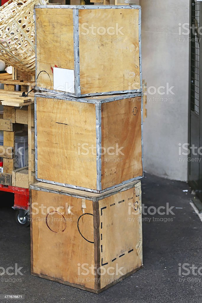 Transportation boxes royalty-free stock photo