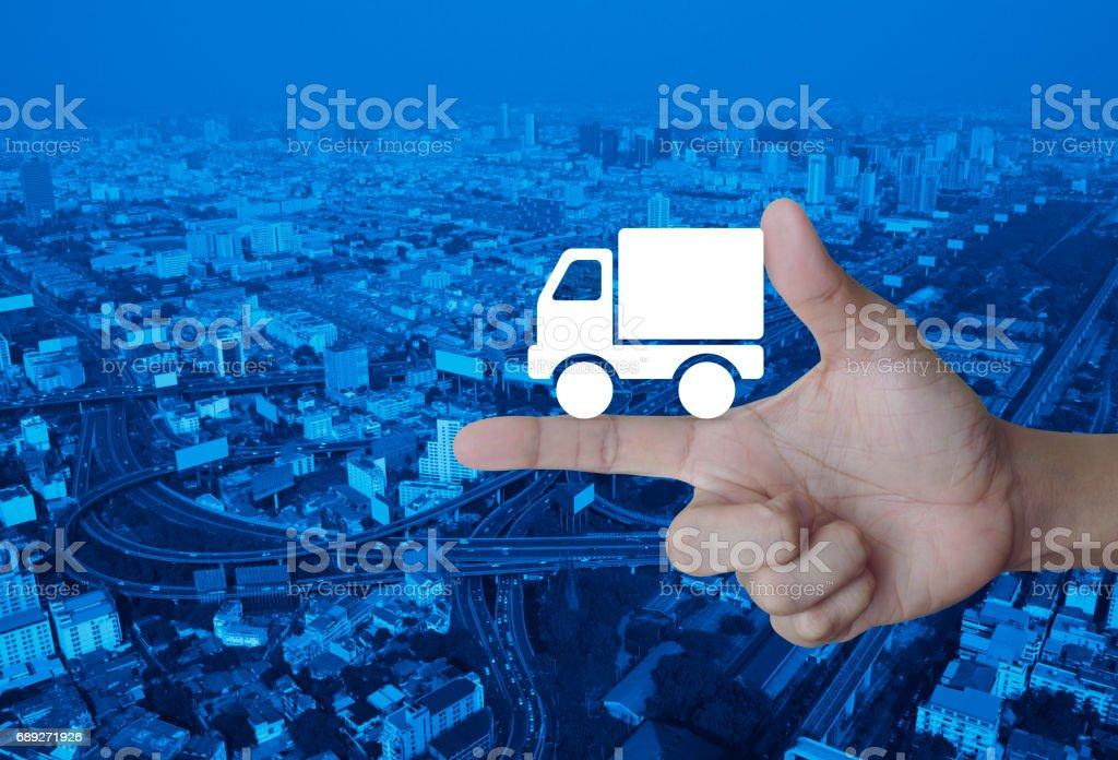 Transportation business concept stock photo