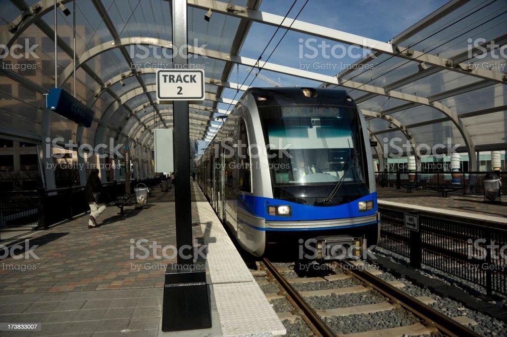 Transportation - City Metro Train. Full Frame. stock photo