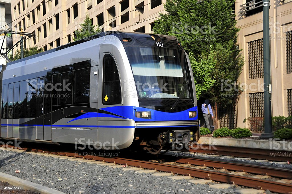 Transportation: Commuter Train - Light-Rail, City Metro Train stock photo