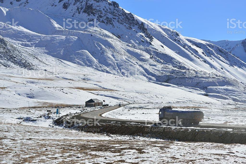 transportation during the Karakoram Highway. stock photo