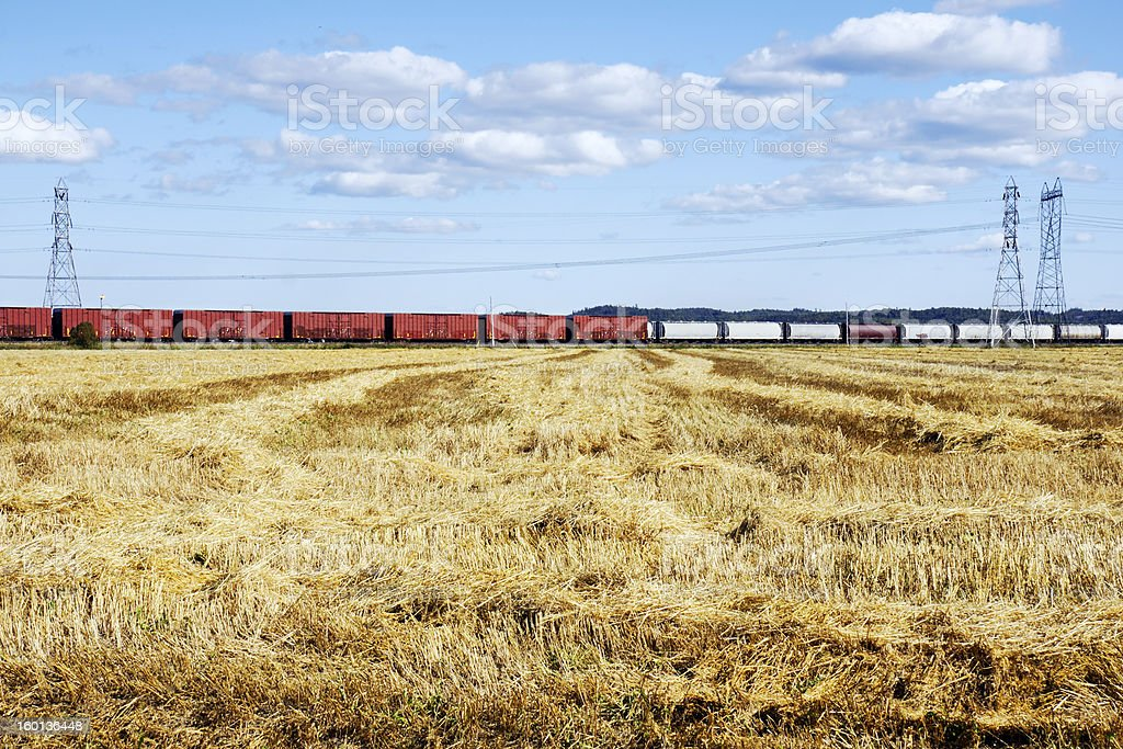 Transportation, energy and agriculture stock photo