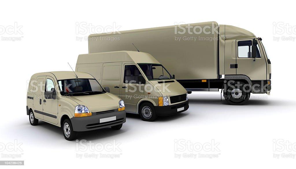 Transportation fleet in beige stock photo