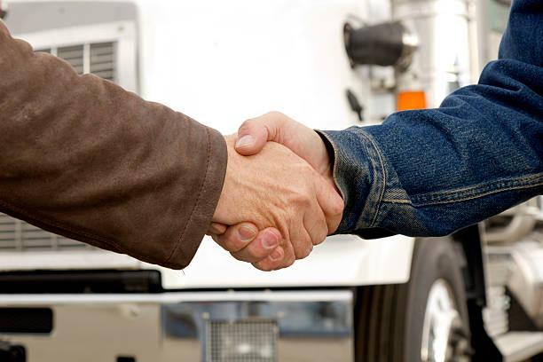 Transport Hände schütteln – Foto
