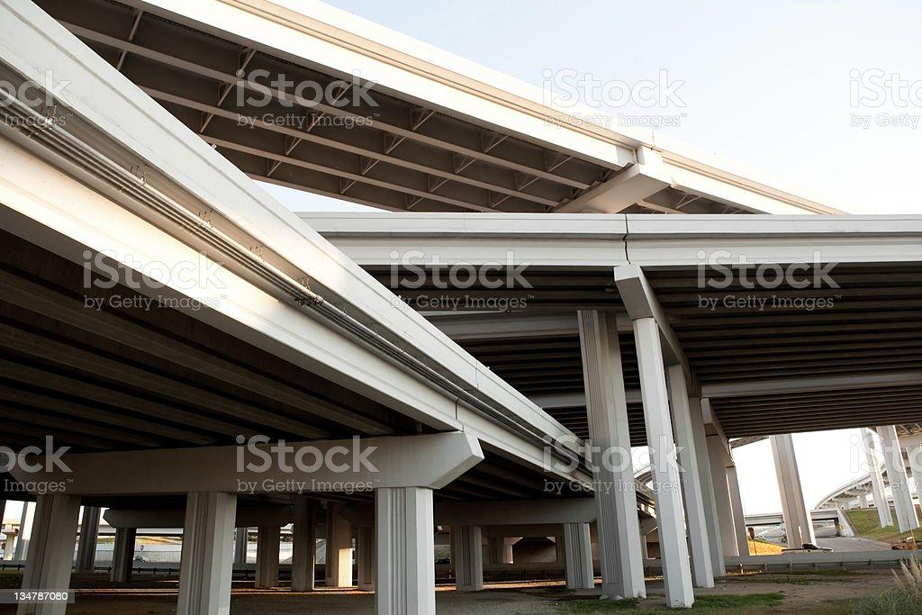 Transportation: highways royalty-free stock photo