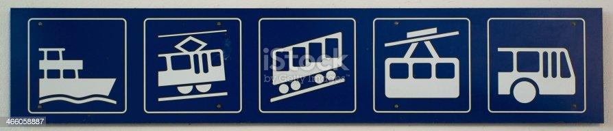 istock Transportation icons 466058887