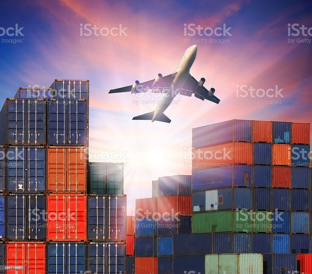 transportation in logistic business industry stock photo