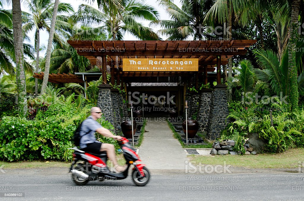 Transportation in Rarotonga Cook Islands stock photo