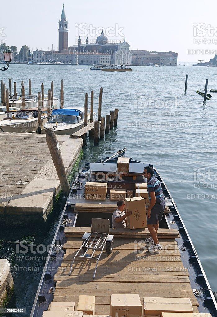 Transportmöglichkeiten in Venedig Lizenzfreies stock-foto