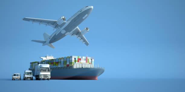 Transportation logistics stock photo