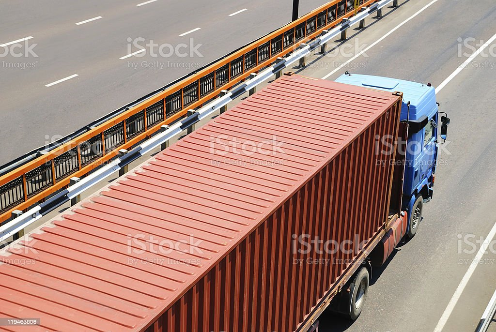 Transportation of cargoes by lorry royalty-free stock photo