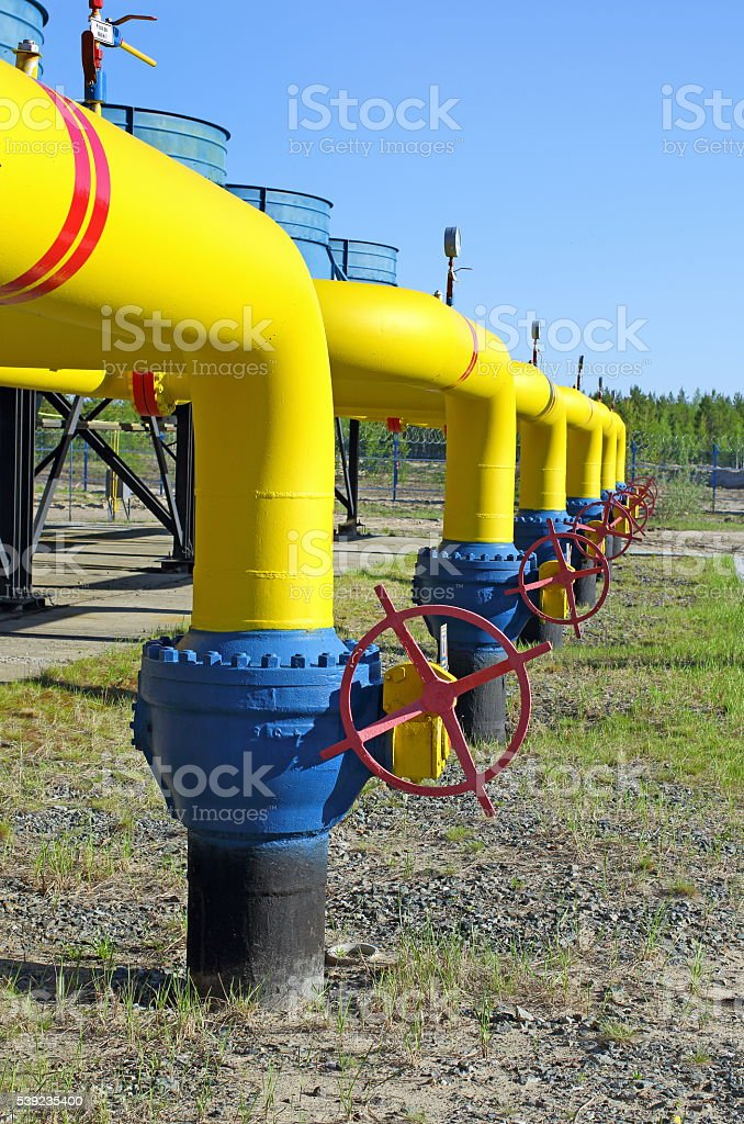 Transportation of natural gas on Yamal royalty-free stock photo
