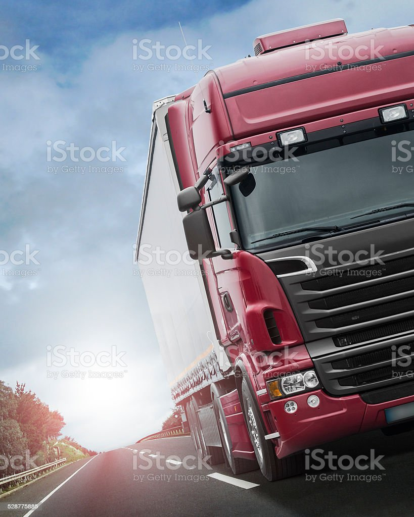 Transportation on a Highway stock photo
