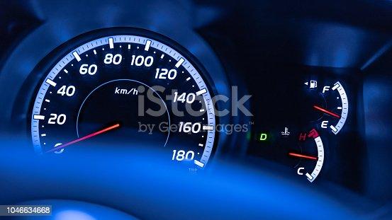 Digital Car Dashboard Speedometer