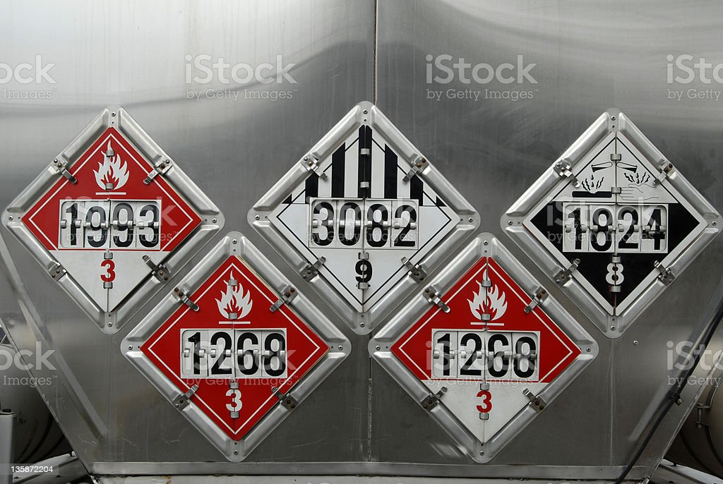 Transportation Placards royalty-free stock photo