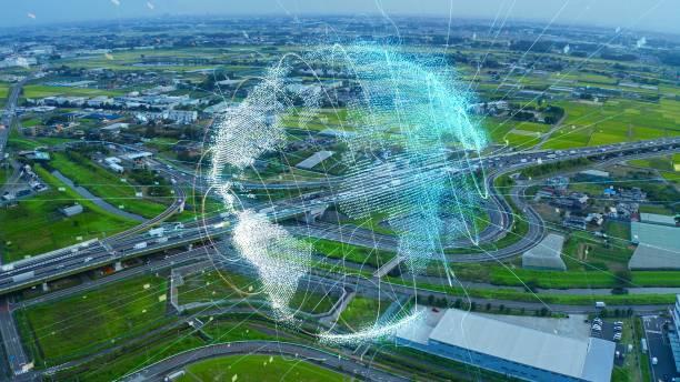 交通システムのコンセプト。通信ネットワーク。自律技術。 - sustainability ストックフォトと画像