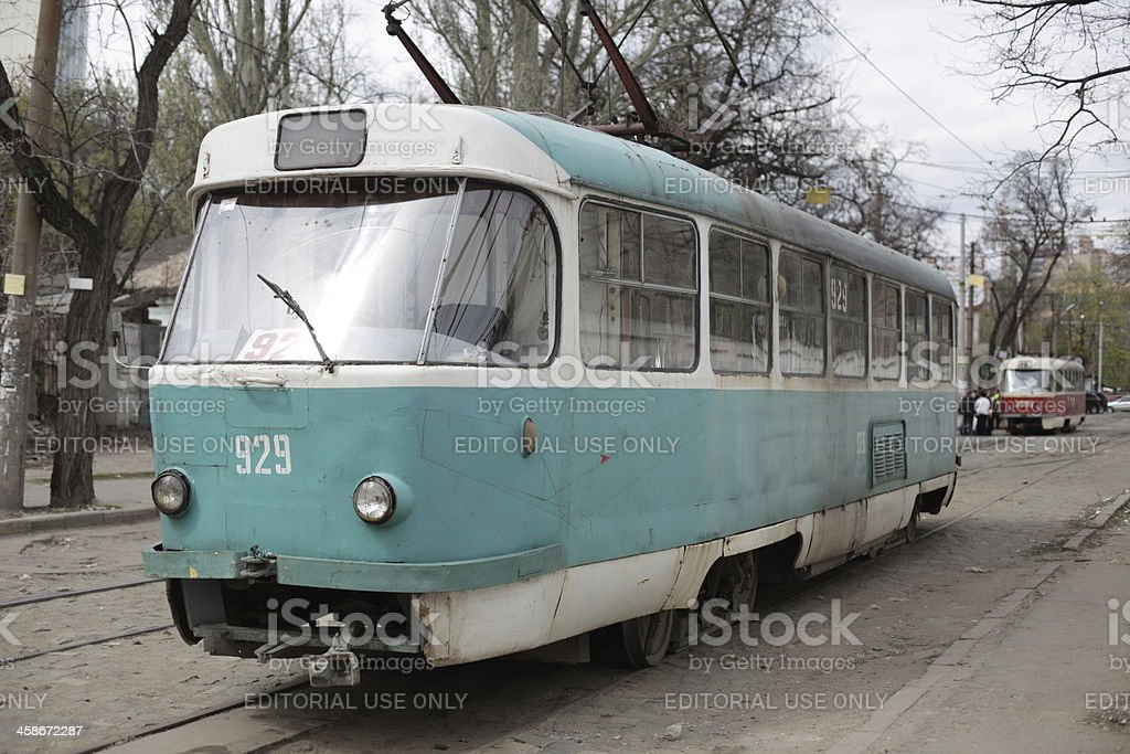 transportation Trolley in Ukraine royalty-free stock photo
