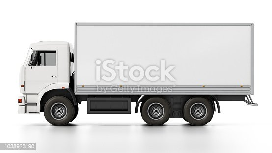 istock Transportation truck with blank copy space 1038923190