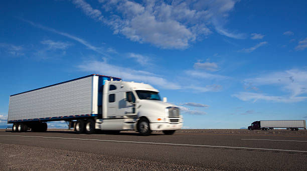 Royalty Free White Semi Truck Pictures, Images and Stock Photos - iStock