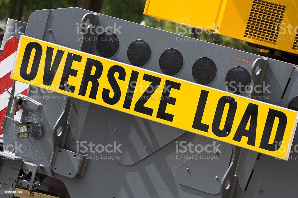 Transportation vehicle- oversize load royalty-free stock photo