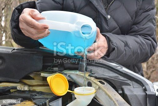 istock Transportation, Windshield Washer Antifreeze. 927659614