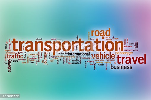 istock Transportation word cloud with abstract background 477085572