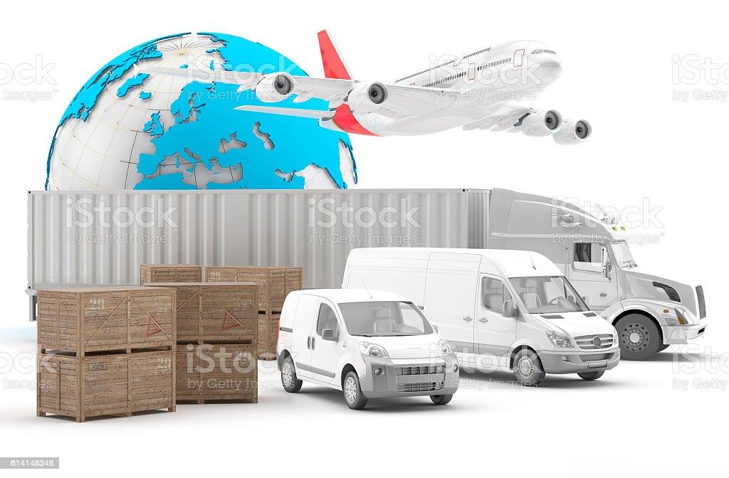 Transporte aéreo urgente y terrestre de mercancías - Photo
