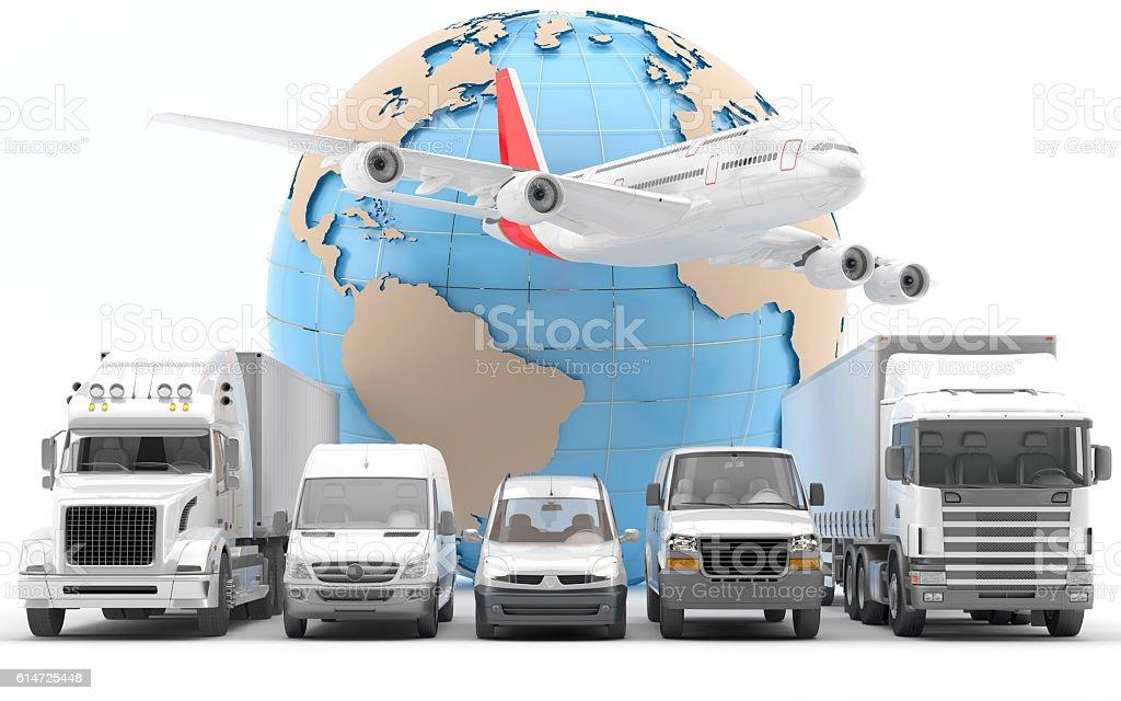Transporte urgente de mercancías por carretera y avión - Photo