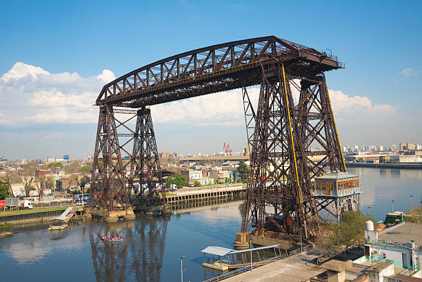 Transporter Bridge La Boca Buenos Aires stock photo