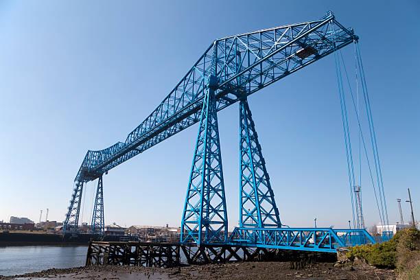 Transporter Bridge, Teesside stock photo