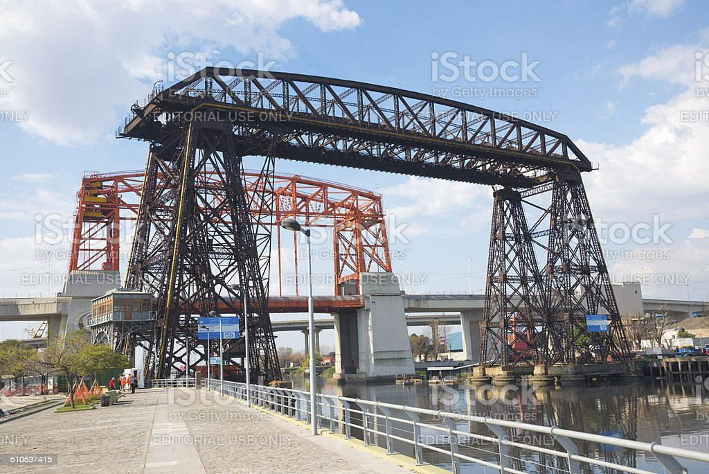 Transporter Bridges in La Boca Buenos Aires stock photo