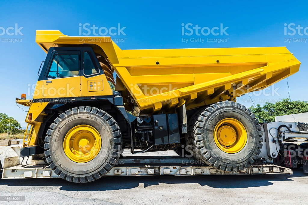 Transporting a large truckload stock photo