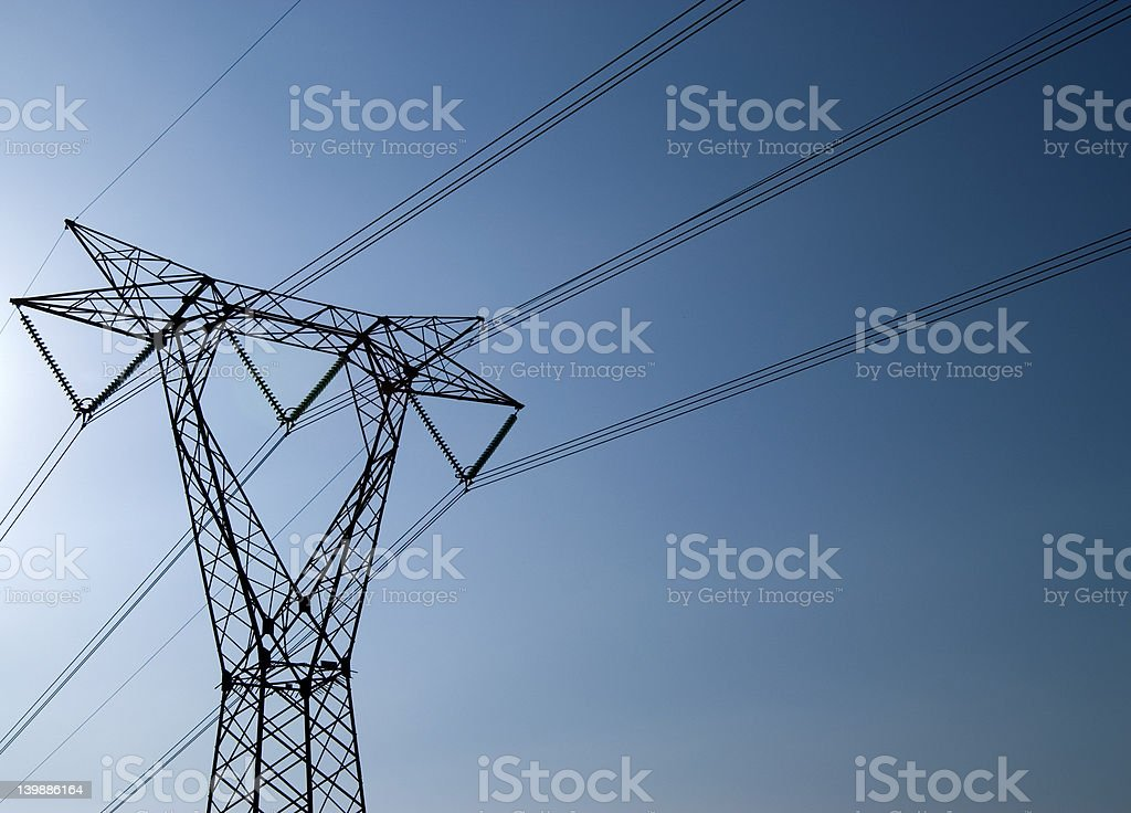 Transporting Electricity royalty-free stock photo