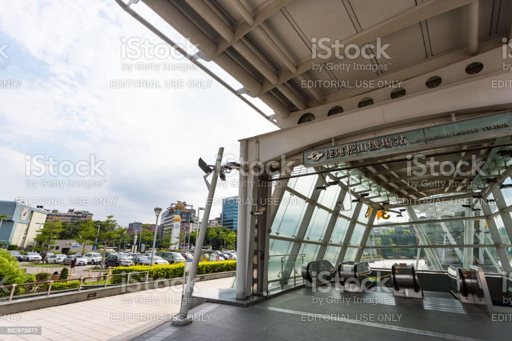 Transportion in Taipei Songshan Airport stock photo