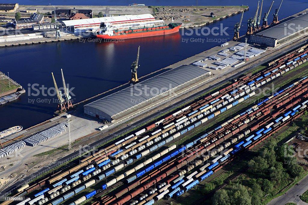 Transshipment port in Szczecin royalty-free stock photo