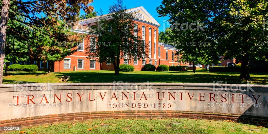 Transylvania University campus entrance in Lexington KY, USA stock photo