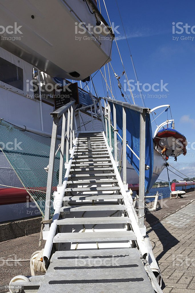 trap on a cruise boat royalty-free stock photo