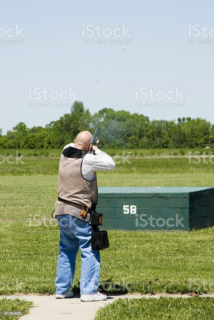 Trap shooting 2 royalty-free stock photo