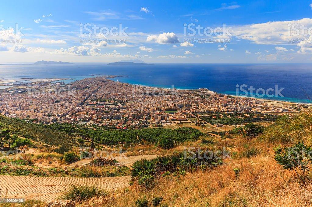 Trapani Coast Mediterranean Landscape stock photo