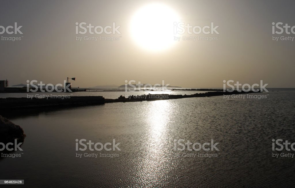 Saline Trapani royalty-free stock photo