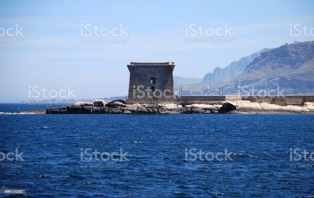 Trapani Sicilien - Royaltyfri Arkitektur Bildbanksbilder