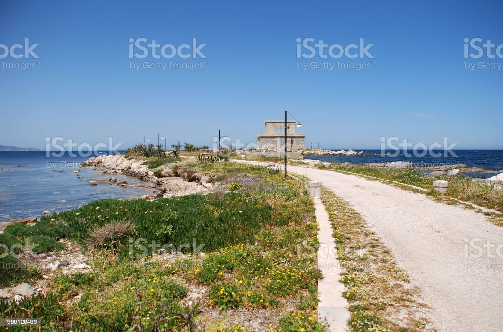 Trapani Sicilia - Royalty-free Architectuur Stockfoto