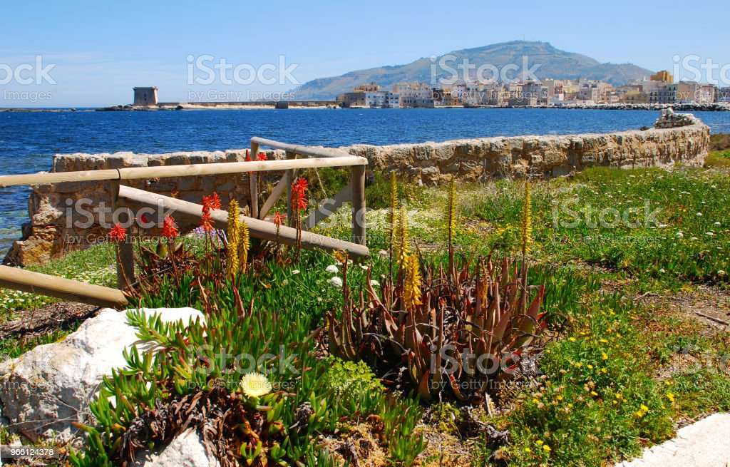 Trapani Sicilia - Royalty-free Architectuur Stockfoto