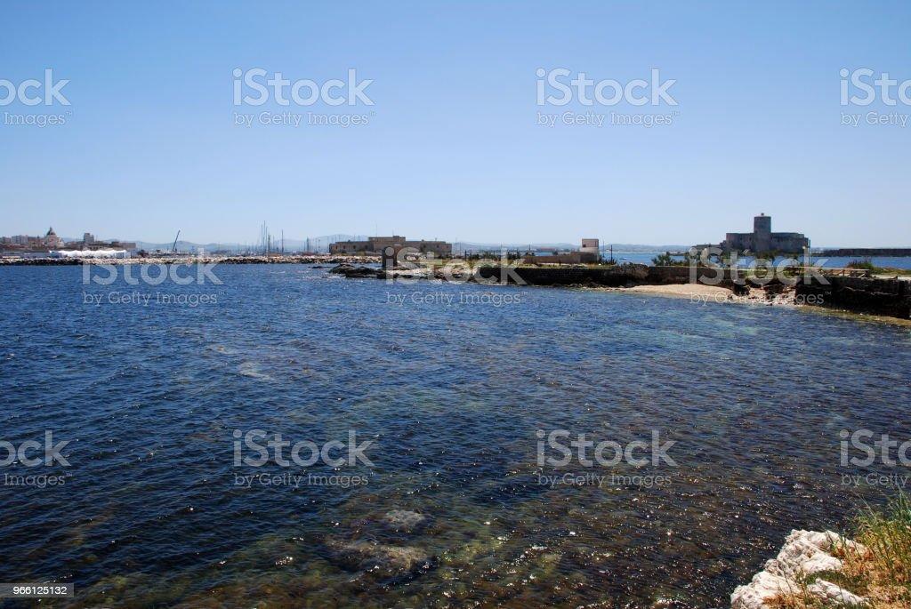 Trapani Sicily Sicilia Coastline Stock Photo