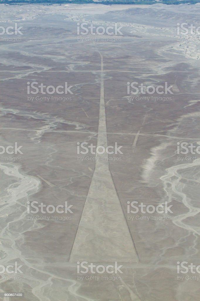 Trapezoids of the Nazca Lines, Peru stock photo