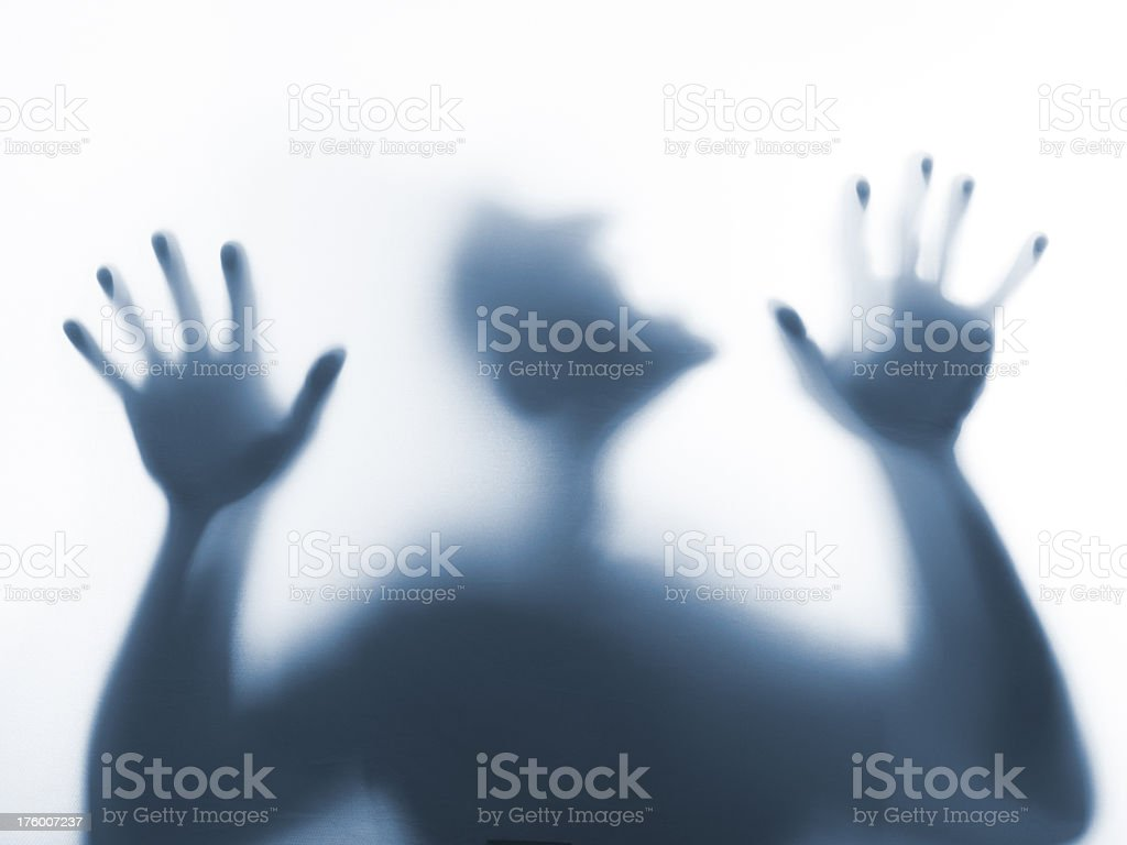 Trapped behind a screen royalty-free stock photo