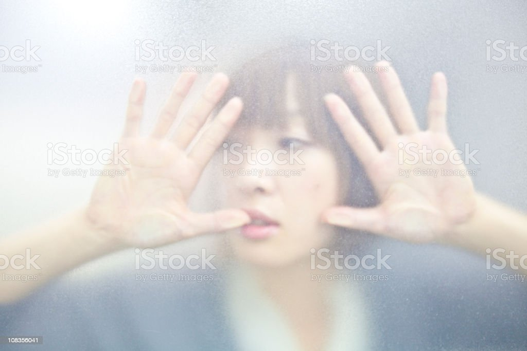 trapped behind the glass royalty-free stock photo