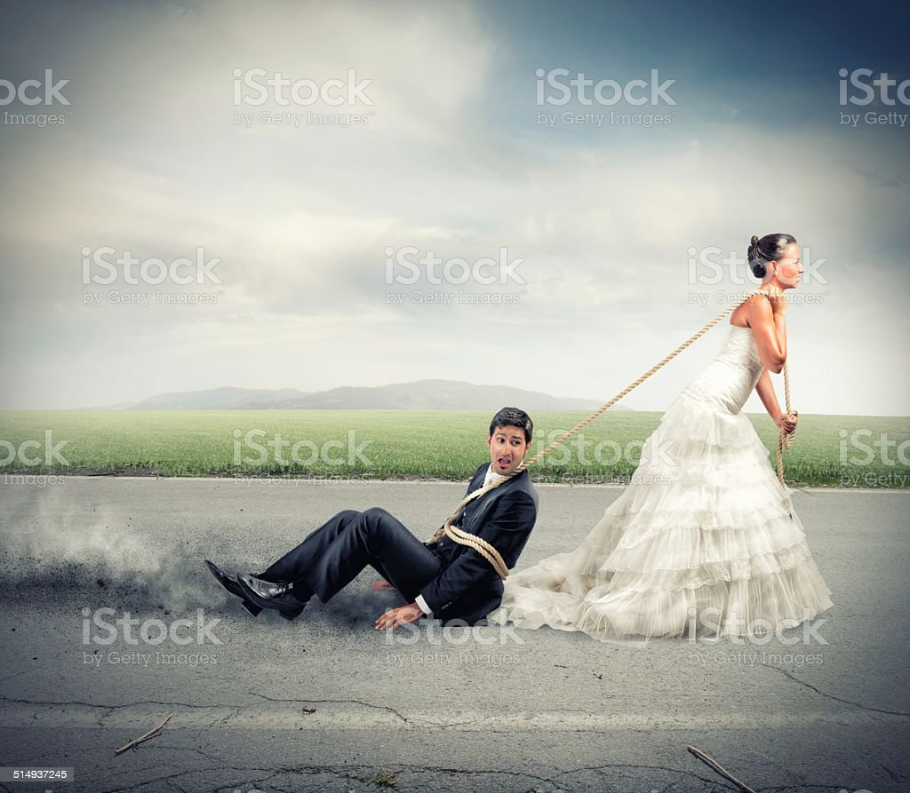 Intrappolato per matrimonio foto stock royalty-free