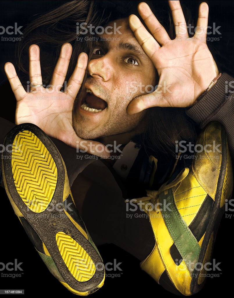 trapped crushed stock photo