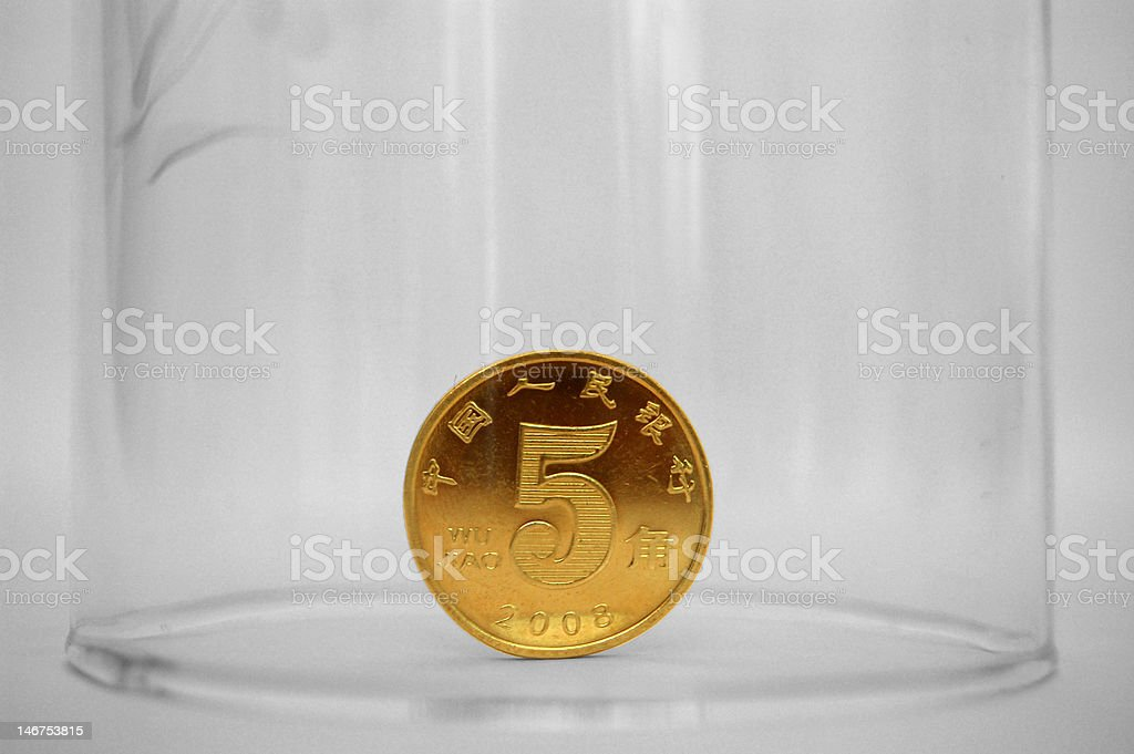 Trapped Money stock photo
